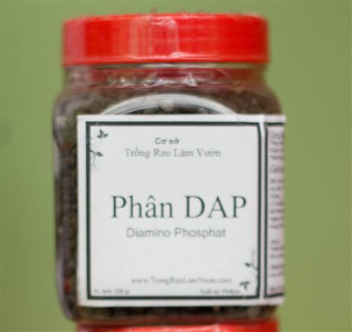 Phân DAP dùng bón phân cho rau