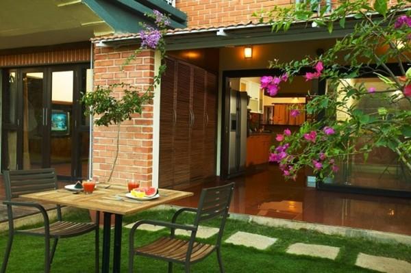 Cây xanh mang lại cho không gian ngôi nhà một cảm giác nhẹ dịu và thư giãn
