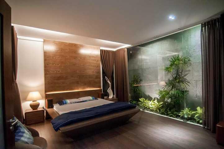 Hầu hết các căn phòng đều có view nhìn ra cây cối tươi mát.