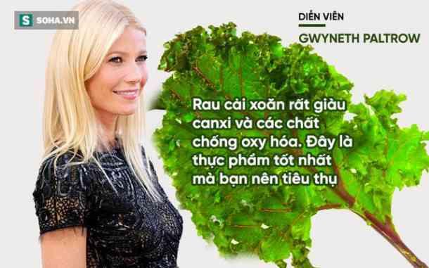 Ngôi sao Gwyneth Patrow có niềm đam mê bất tận với rau cải xoăn.